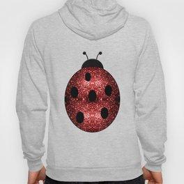 Beautiful Sparkling red sparkles Ladybird Ladybug Hoody