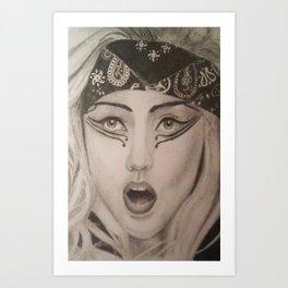 Ga Ga  Art Print