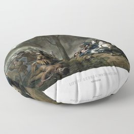 Life Of George Washington -- The Soldier Floor Pillow
