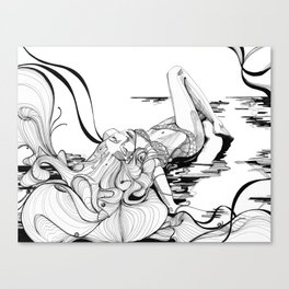 Micron Baigneuse Canvas Print