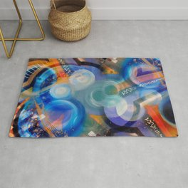Cosmically Jammed Fabstract Art Rug