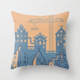 Future Amsterdam Throw Pillow