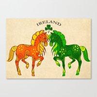 ireland Canvas Prints featuring Ireland by StudioBlueRoom