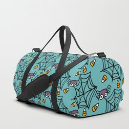 Happy halloween spiders and web pattern Duffle Bag