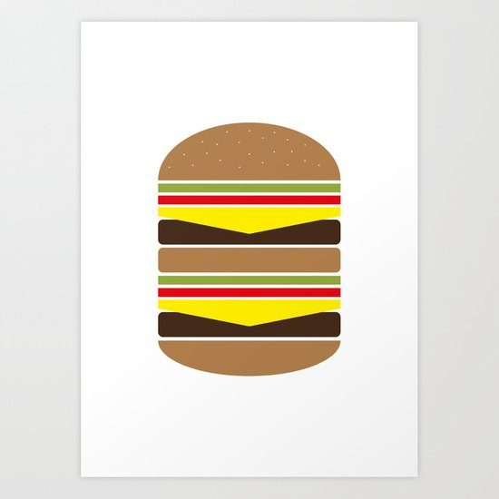Burger Illustration Art Print