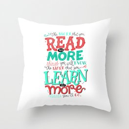 Read More Learn More Throw Pillow