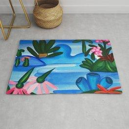Classical Masterpiece 'The Lake' by Tarsila do Amaral Rug