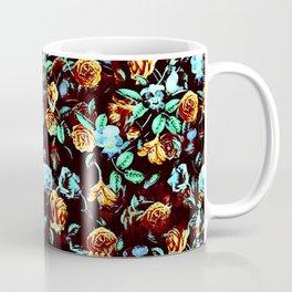 Yellow Blue Flowers Coffee Mug
