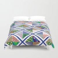 quilt Duvet Covers featuring Pattern Quilt by Cina Catteau