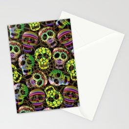 Sugar Skulls Pattern Stationery Cards