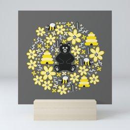 Bear and Bees Mini Art Print