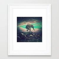 walk the moon Framed Art Prints featuring Moon walk by nois7