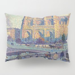 "Maximilien Luce ""The Quai Saint-Michel and Notre-Dame"" Pillow Sham"