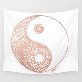 Rose Gold Yin Yang Wall Tapestry