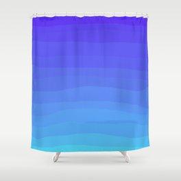 Cobalt Light Blue gradient Shower Curtain