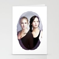 divergent Stationery Cards featuring The Divergent Games by Clara J Aira