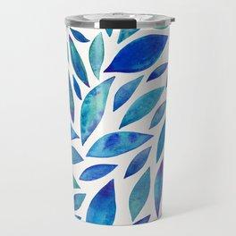 Diamond Leaves – Blue Palette Travel Mug