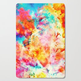 Colorful Abstract Nebula Cutting Board