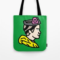 jesse pinkman Tote Bags featuring Pinkman by MSTRMIND