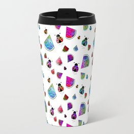 Summer Treats And Ladybugs Travel Mug