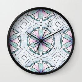 Morse Code Mandala Wall Clock