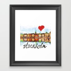 I love Stockholm Framed Art Print