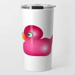 Pink Rubber Duck Toy Travel Mug