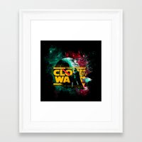 starwars Framed Art Prints featuring STARWARS by Burcu Korkmazyurek