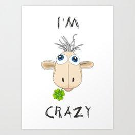 Crazy Sheep Art Print