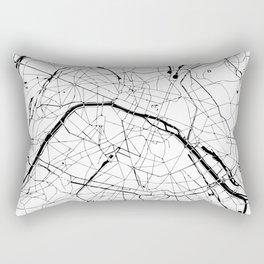 Paris Minimal Map Rectangular Pillow