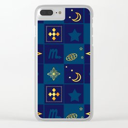 Night Waltz of the planets. Clear iPhone Case