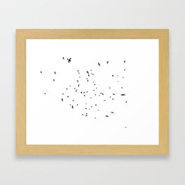 The Black Birds (Black and White) Framed Art Print