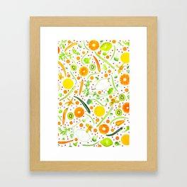 Fruits and vegetables pattern (13) Framed Art Print