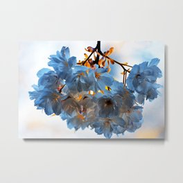 SPRING BLOSSOMS - IN BLUE Metal Print