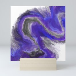 Purple Wave Digital Fluid Art Mini Art Print