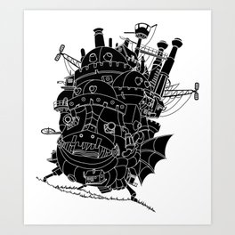Howl's moving castle. Art Print