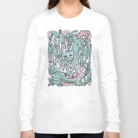 foo fighters Long Sleeve T-shirts featuring Foo Dogs by Joe Pearson