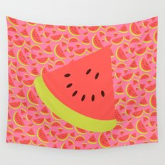 Spring watermelon Wall Tapestry