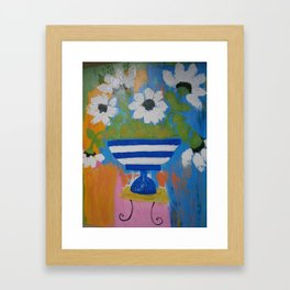 """Flowers...in the style of Matisse"" Framed Art Print"