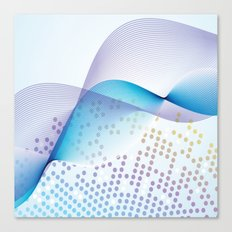 Light Blue Digital Abstract Canvas Print