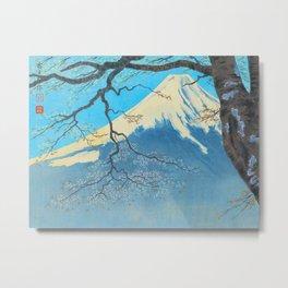 Tokuriki Tomikichiro Thirty Six Views of Mt Fuji From Harajiku Pine Forest Japanese Metal Print
