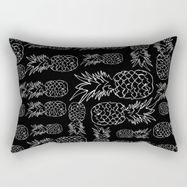 single line pineapple (white) Rectangular Pillow