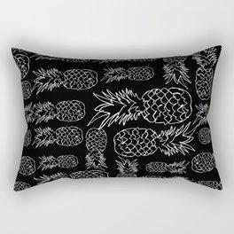 single line pineapple (white) Rectangular Pillow
