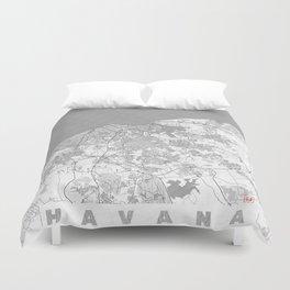 Havana Map Line Duvet Cover