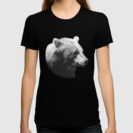 Bear // Calm (Black + White) T-shirt