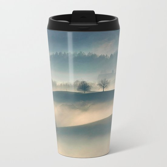 Foggy Hills Metal Travel Mug