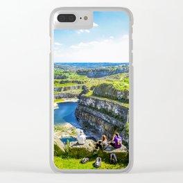 Blue Lagoon. Clear iPhone Case