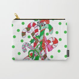 Candy Cane Party Carry-All Pouch