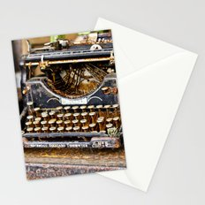 Vintage Rusty Typewriter Stationery Cards