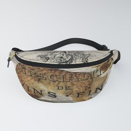 vintage typography fall harvest autumn woodland french hare rabbit Fanny Pack
